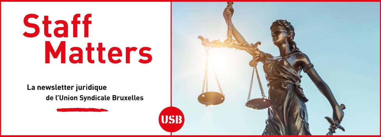 Staff Matters, la newsletter juridique de l'USB